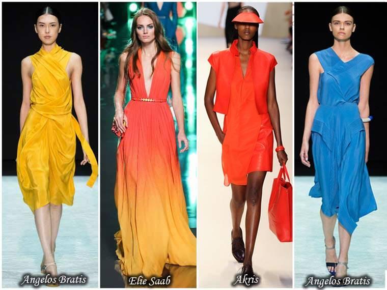 Rochii culori intense primavara 2015