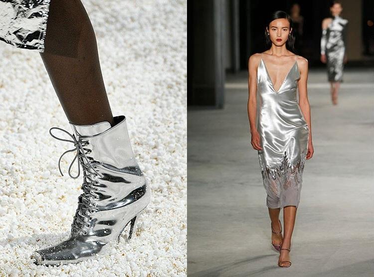 Tinute elegante culoare argint