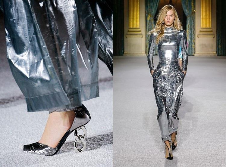 Moda 2018 culoare argintie