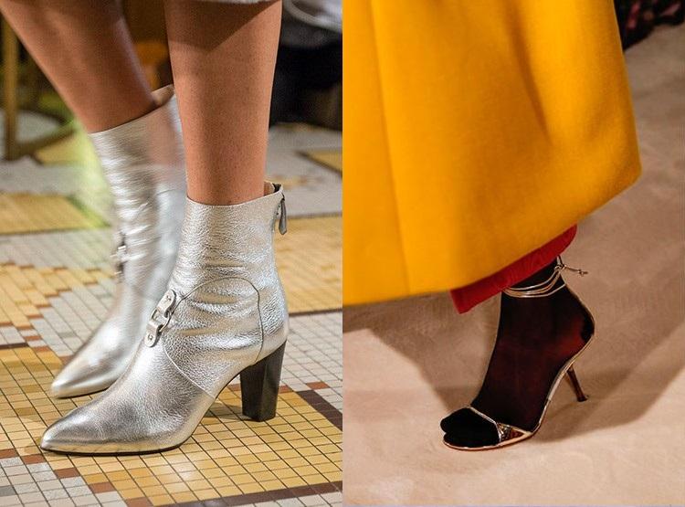 Incaltaminte argintie la moda in 2019