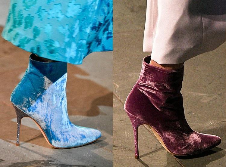 Incaltaminte din catifea la moda