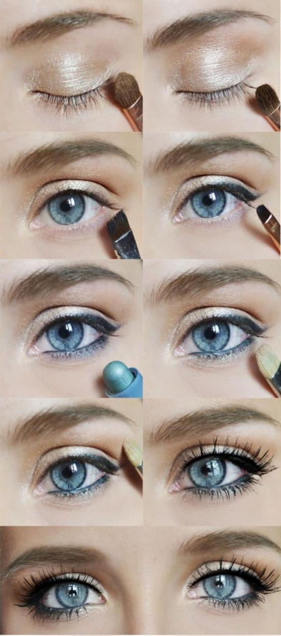Machiaj ochi albastri revelion 2019 pas cu pas